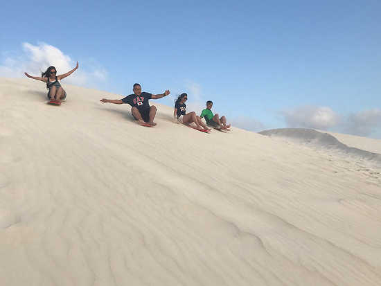 Sandboarding at Lancelin - Pinnacles and Lobster tour