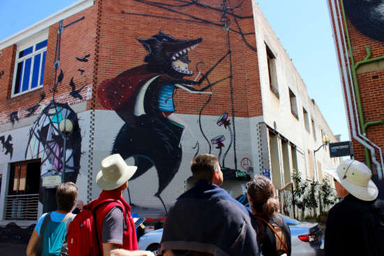 Perth Walking tour street art